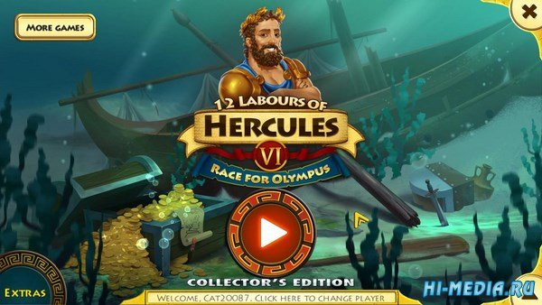 12 Labours of Hercules 6: Race for Olympus Collectors Edition (2016) RUS