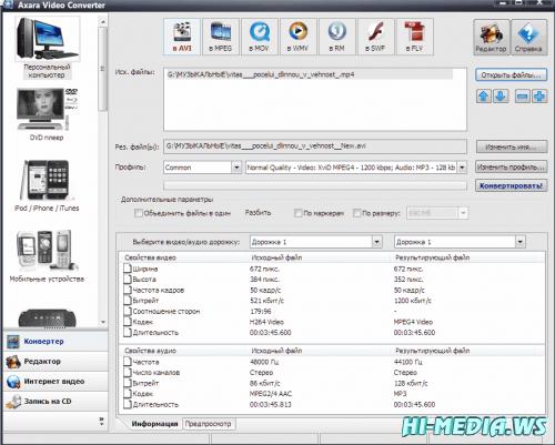 Axara Video Converter v3.4.6.740 (Rus) Portable