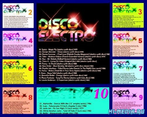 Disco Electro - Synth Disco Classics 70's & 80's (10CD) (2013)