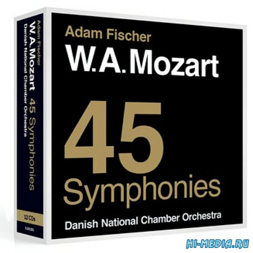 Danish National Chamber Orchestra: W.A. Mozart. 45 Symphonies (12CD) (2014)