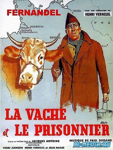 Корова и солдат / La vache et le prisonnier (1959) TVRip
