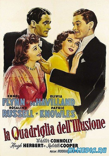 Четверо – уже толпа / Four's a Crowd (1938) DVDRip