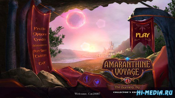 Amaranthine Voyage 8: The Burning Sky Collectors Edition (2017) ENG