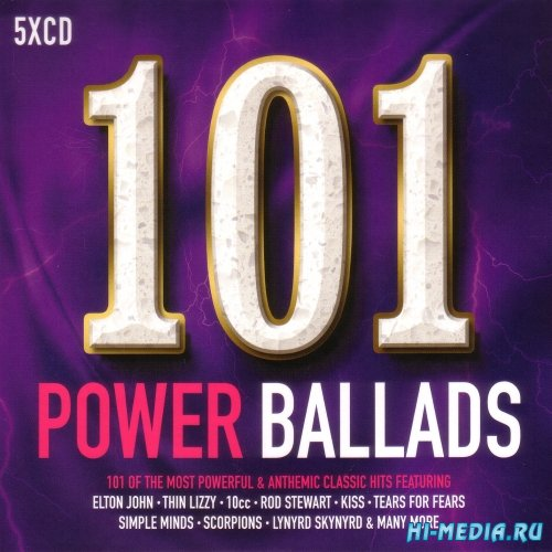 VA - 101 Power Ballads (2017)
