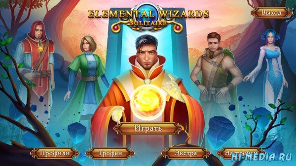 Solitaire Elemental Wizards (2020) RUS