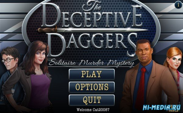 The Deceptive Daggers: Solitaire Murder Mystery (2020) ENG