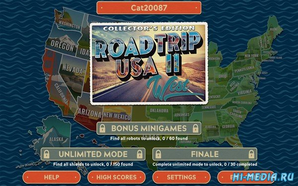 Road Trip USA 2: West Collectors Edition (2020) ENG