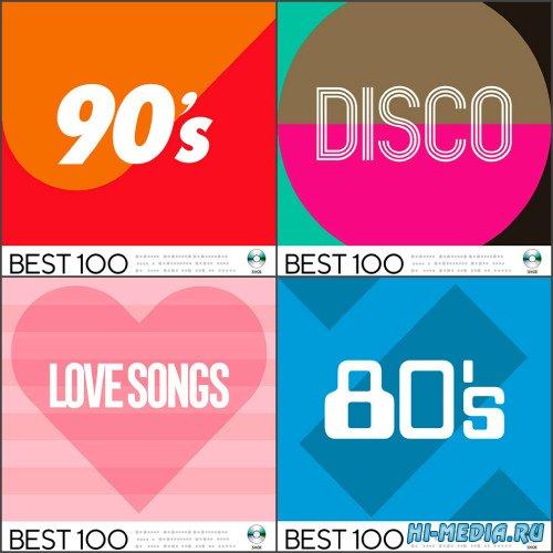 VA - Best 100: Disco, 80s, 90s, Love Songs (4 CD) (2020) MP3