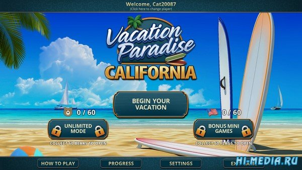 Vacation Paradise: California (2020) ENG