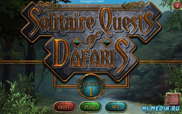 Solitaire Quests of Dafaris: Quest 1 (2020) ENG